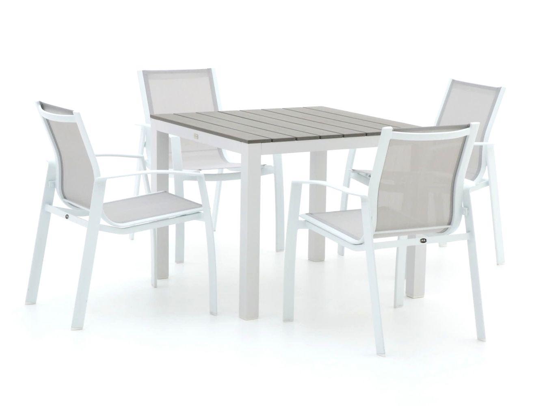 R&S Design Altea/Fidenza 90 cm Esstischgruppe 5-teilig stapelbar