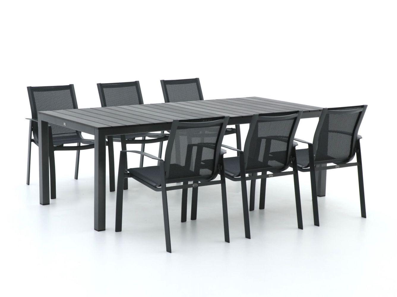 R&S Design Altea/Fidenza 220 cm Esstischgruppe 7-teilig stapelbar