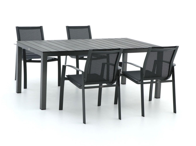 R&S Design Altea/Fidenza 180 cm Esstischgruppe 5-teilig stapelbar