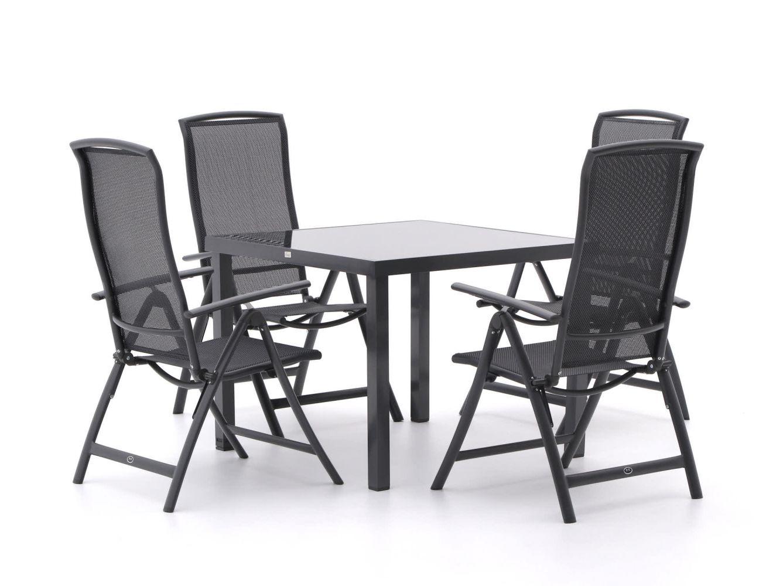 R&S Design Capri/Caluso 96 cm Esstischgruppe 5-teilig verstellbar