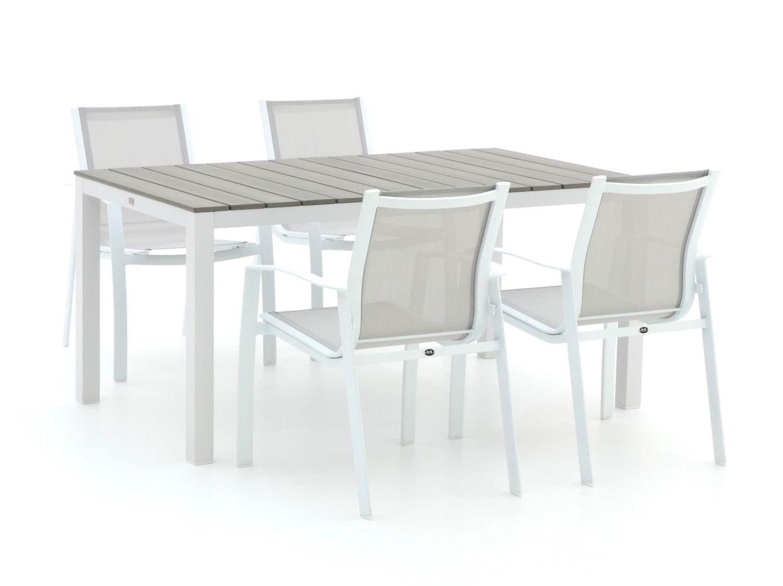 R&S Design Altea/Fidenza 160 cm Esstischgruppe 5-teilig stapelbar
