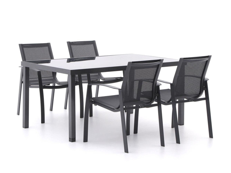 R&S Design Altea/Caluso 160 cm Esstischgruppe 5-teilig stapelbar